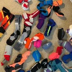 Nike Elites, Jordan Socks.